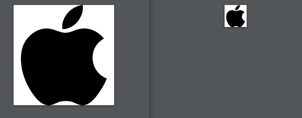 Original PDF logo left and resized logo right