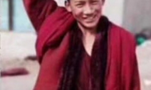 Une des rares photos connues de Tenzin Nyima
